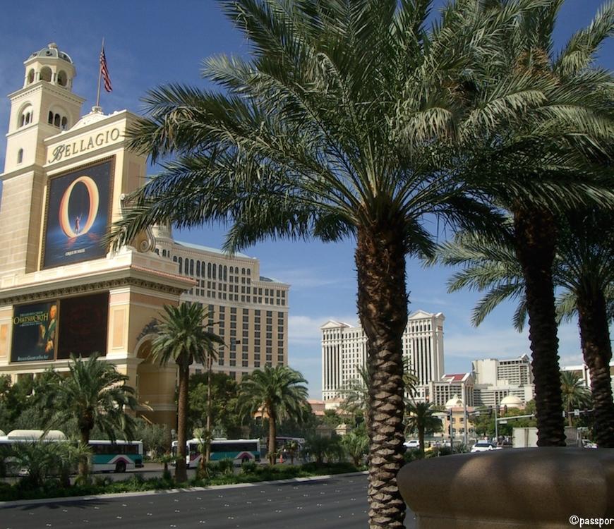 Exterior of Bellagio Hotel in Las Vegas