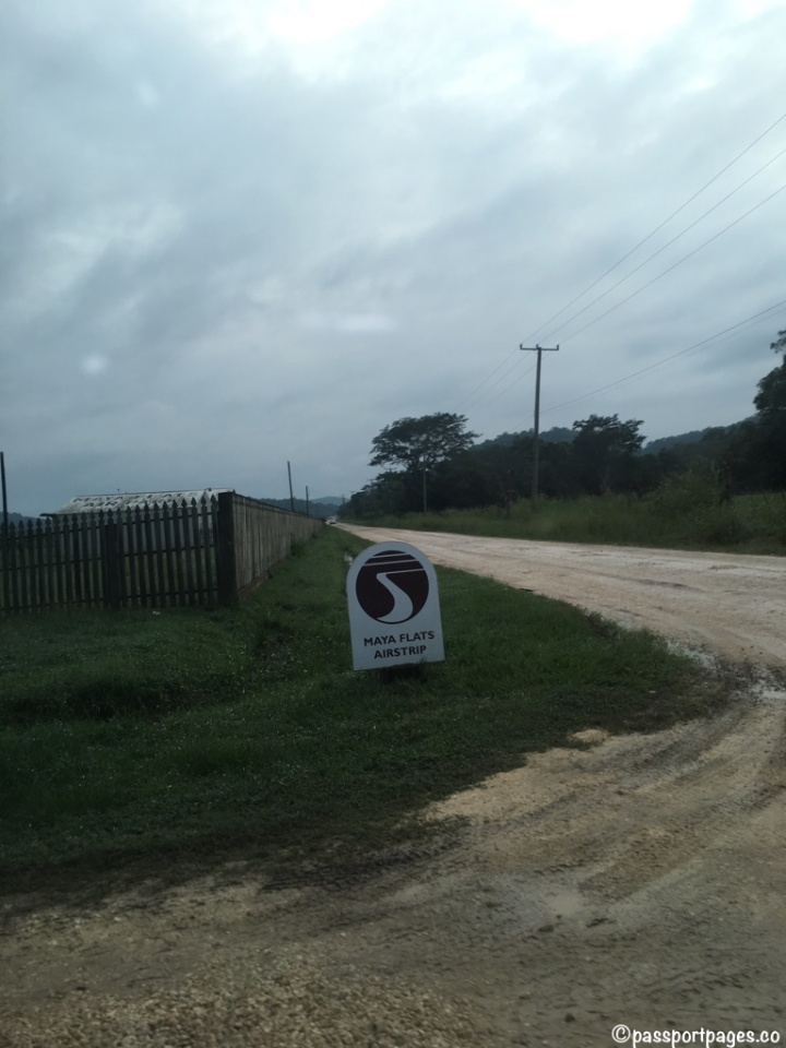 Maya-Flats-Airstrip-San-Ignacio-sign