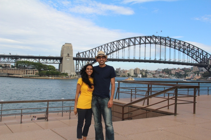 Samta-Ajay-Circular-Quay-Sydney-Harbour-Bridge-travel-blog-passportpages