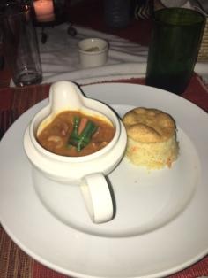 Bakers-Lodge-Murchison-Falls-Uganda-dinner-soup-vegetables-vegan-vegetarian