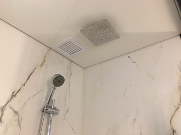 The shower in our room had a rain shower head as well as a handheld.