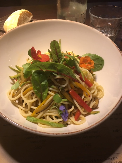 Hyatt-Centric-Montevideo-Plantado-lunch-vegetarian-vegan-food-spaghetti-Uruguay