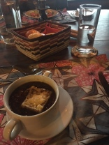 French onion soup for dinner at Kyuninga