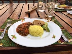 Chapati, sabzi and Indian inspired rice at Kyuninga