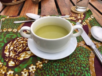 vegetarian soup at Kyuninga